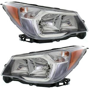 Headlight Set For 2014 2016 Subaru Forester 2 0xt Models Left And Right 2pc