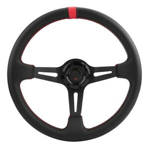 Carbon Fiber 14 350mm 3 Spoke Deep Dish 6 Bolt Jdm Sport Racing Steering Wheel