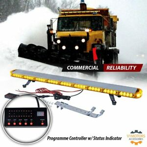 46 Emergency Led Light Bar Amber Yellow Flashing Warning Strobe Snow Plow Kit