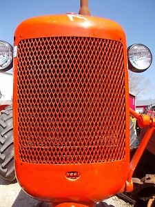 Allis Chalmers C Tractor Repainted Ac Front Nose Cone Grill W Screen Over Radia