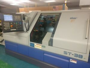 Used Star St 38 2016 Swiss Lathe 1 5 3 Turrets Y axis Sub spindle Barfeeder