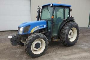 New Holland T4040 Tractor Cab Heat ac 84 Hp Diesel 1562 Hours 4x4 3 Point
