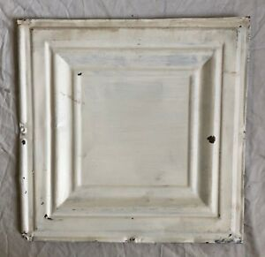 1890 S 12 X 12 Antique Tin Ceiling Tile White Metal Reclaimed Anniversary 34 19