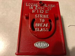 Vintage Sperti faraday 5024 hb Break Glass Fire Alarm Pull Station