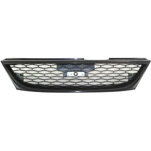Grille For 98 99 Nissan Sentra Textured Gray Plastic