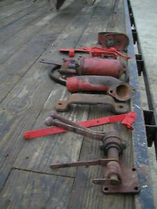 Farmall Tractor Misc Parts Brackets Hydraulic Levers Oil Filter Amp Box Deal