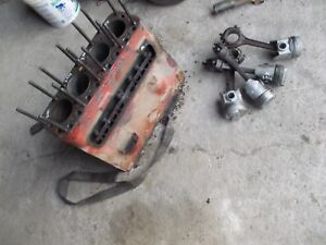 Farmall M Mv Early Sm Tractor Good Ih Engine Motor Block More Power Pistons h