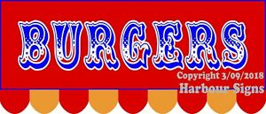 choose Your Size Burgers Decal Food Truck Concession Sticker