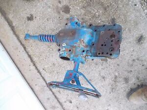 Ford 960 Tractor Rear Transmission Cover 3pt Spring Control Lever W Fan