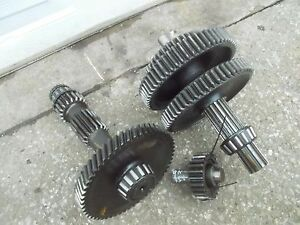 Ford 9n Tractor Matched Set Transmission Drive Gears Upper Lower Middle