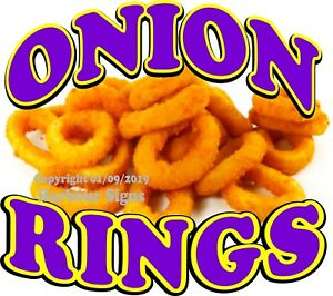 Onion Rings Decal choose Your Size Concession Food Truck Vinyl Sticker
