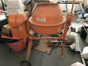 Portable Electric Concrete Cement Mixer 2 1 5 Cubic Ft Stucco Mortar Used Once