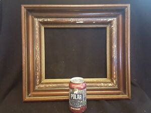 Antique Eastlake Victorian Deep Walnut Picture Frame 15 1 2 X 17 1 2