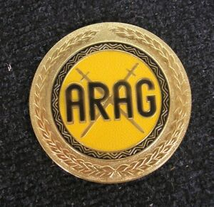 Arag Vintage German Car Grill Badge Plakette Nos