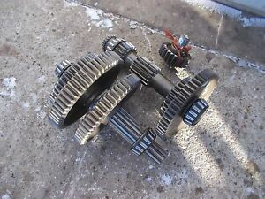 Ford 9n Tractor Matched Set Transmission Drive Gears Upper Lower Middle Shafts