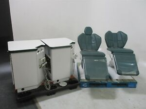 Dexta Operatory Package Lot Of 2 Dexta Dental Exam Patient Chairs W Cabinetry