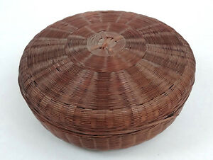 Rare Large Antique Chinese Sewing Basket Betty Lou Collectio 108