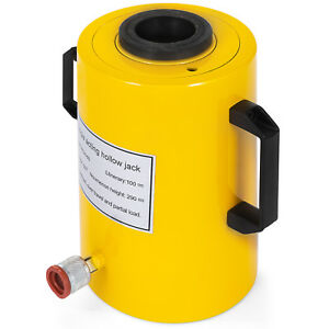 60 Tons 4 Stroke Single Acting Hollow Ram Hydraulic Cylinder Jack Pro Updated