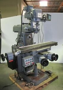 9 X 54 Sharp Vh 2 Vertical Horizontal Mill Milling Machine W Servo Ii 3hp