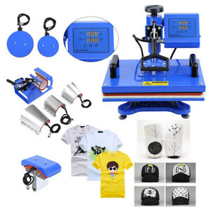 8 In 1 Sublimation Heat Press Transfer Machine T shirt Mug Plate Diy Printer