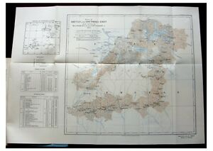 1924 Bailey And Meade Unexplored Bhutan And Southern Tibet Color Map 10