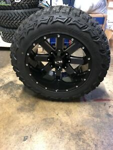 20x12 Ion 141 Black 35 Mt Wheel Tire Package 6x5 5 Chevy Silverado Suburban