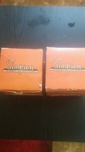 Simpson Instruments Amperes Meter Model 29 And Volt Meter nos