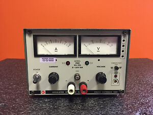 Kikusui Pad35 10l 0 To 35 Vdc 0 To 10 Adc 10 Turn Pot Dc Power Supply Tested