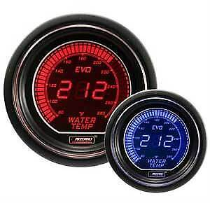 Prosport Universal Evo Series 52mm Digital Water Temperature Gauge blue red