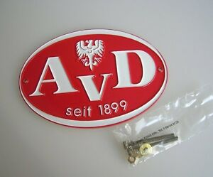 Ferrari Red Vintage German Car Badge Avd Lion Mb 190 300 Sl Nos