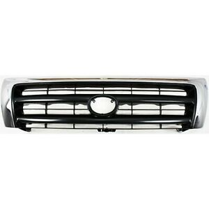 Grille Chrome Black Center For 97 00 Toyota Tacoma Pre Runner