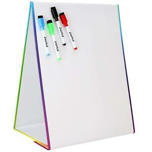 Tabletop Magnetic Easel 4 Dry Erase Markers Drawing Art White Board Kids Toy