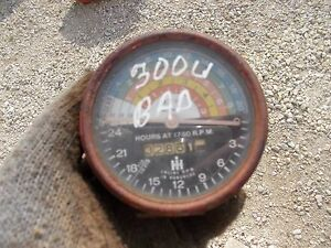 International 300 Utility Tractor Original Ih Ihc Tachometer Tach