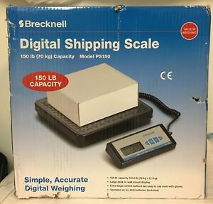 Brecknell Digital Shipping Scale Ps150 150 Lb 70 Kg With Batteries