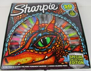 Sharpie 30 Count Special Collectors Edition Gift Set W Dragon Coloring Pages