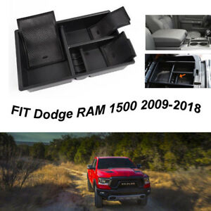 For Dodge Ram 1500 2009 2018 Center Console Armrest Storage Tray Box Organizer