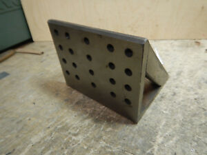Smaller Angle Plate With 5 16 18 Holes Machinist Tooling Jig Fixture