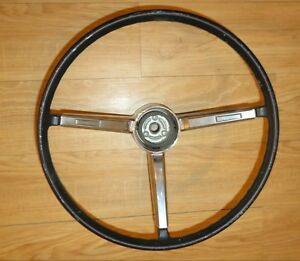 Oem 1967 Chevelle Impala Ss Camaro Deluxe Steering Wheel W 3 Spoke Horn Button