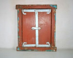 Window Door Frame Panel Antique Old Wooden Folk Art