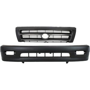 Bumper Cover Kit For 98 2000 Toyota Tacoma Front 2pc Textured