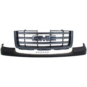 Bumper Cover Kit For 2007 13 Gmc Sierra 1500 Front Cover And Grille Assembly 2pc