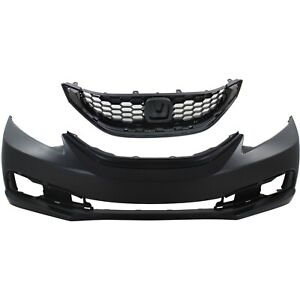 Bumper Cover Kit For 2013 15 Honda Civic Front 4 Door Sedan 2pc