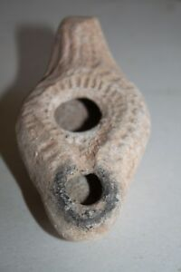 Ancient Roman Pottery Oil Lamp 4 5th Cent Ad Terracotta