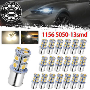 20x 4300k White Led 1156 Ba15s 13smd Rv Camper Trailer Interior Light Bulbs 1141