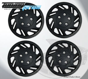 15 Inch Snap On Matte Black Hubcap Wheel Cover Rim Covers 4pc 15 Inches 126