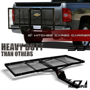 Black Mesh Foldable Trailer Hitch Luggage Cargo Carrier Rack Hauler Tray 59 G16