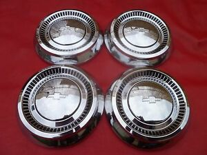 Vintage Nos 1964 Chevy 409 427 Impala Dog Dish Poverty Hubcaps Wheel Covers