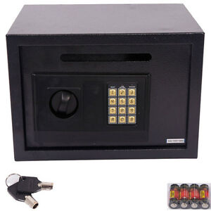 Large Electronic Digital Lock Keypad Safe Box Home Security Gun Cash Jewel Black