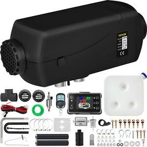 5kw 12v Diesel Air Heater Remote Control Lcd Monitor For Truck Boat Car Trailer