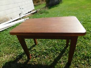 Old Vintage Wood Wooden Art Crafts Bench Stool Chair Farm House Footstool Nice